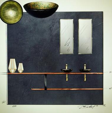 Bathroom design sketch 2018