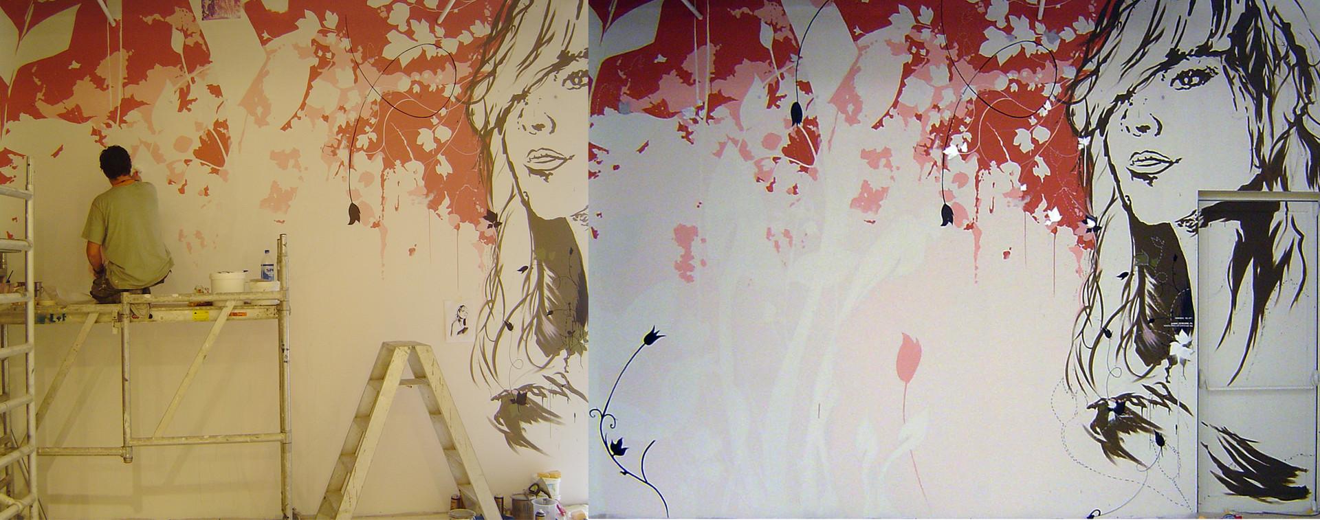 MONS wall art for WonderWoman store