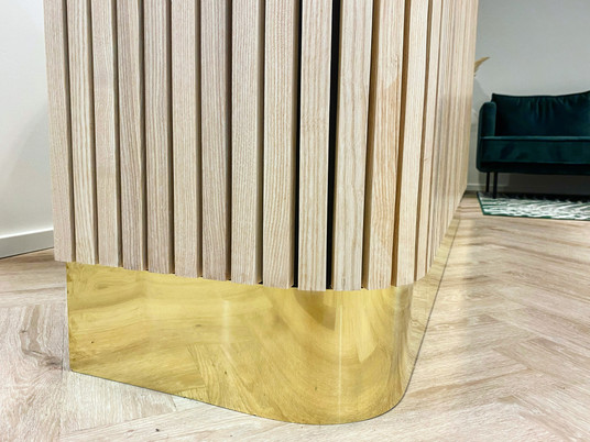 Solid brass curved plinth