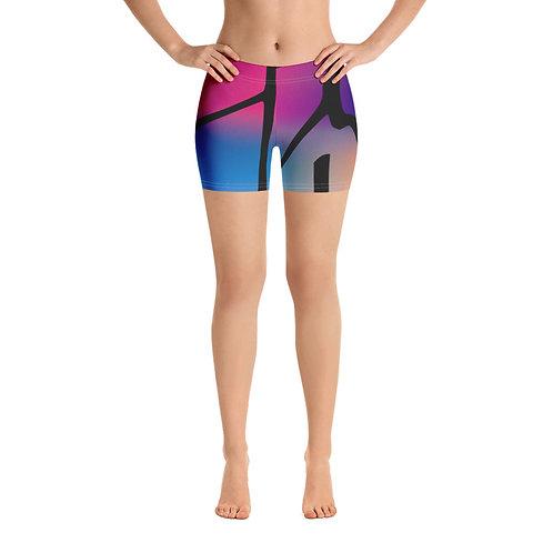 Lina Dior raduga sports shorts