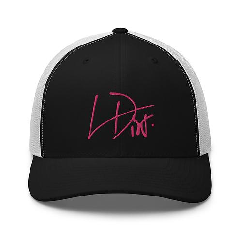 Lina Dior pink logo hat
