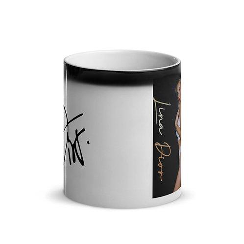 Lina Dior Glossy Black Magic Mug
