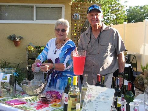 Bartenders Carol Friedman & husband