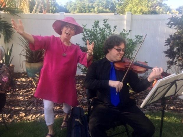 Tyler Pinter on Violin, Jo-anne Schneider - GALA chair