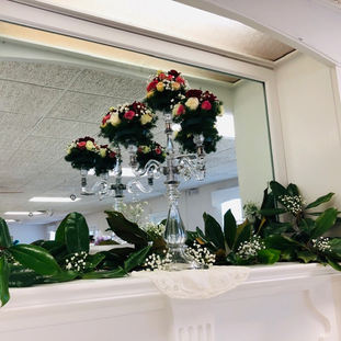 Mantel arrangement by Joann White