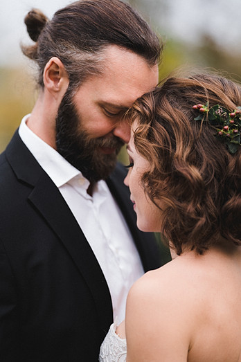 Intieme trouwfoto's