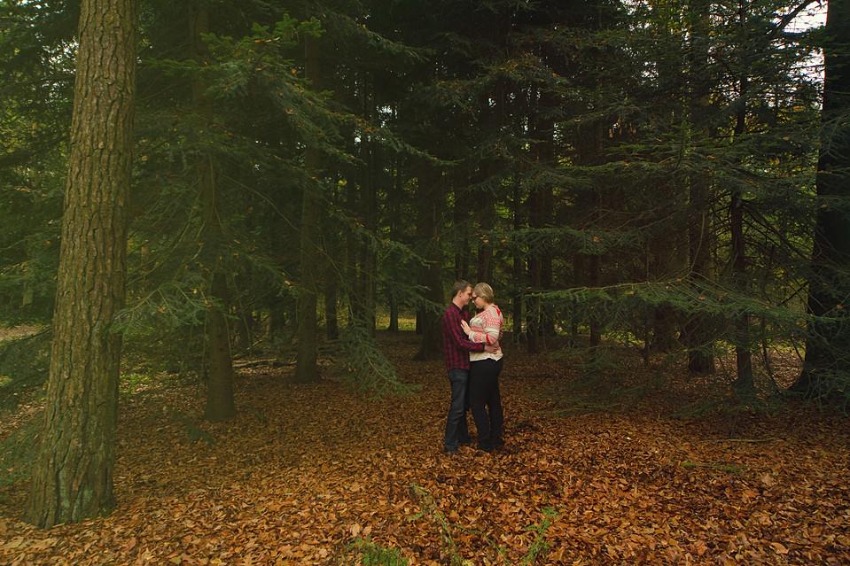 loveshoot in het bos