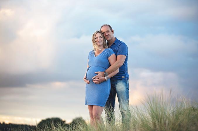 zwangerschapsfoto's in de natuur