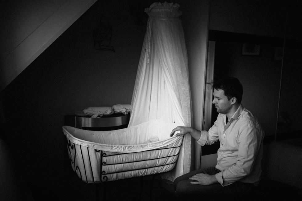 Lifestyle newbornfotoshoot Drenthe
