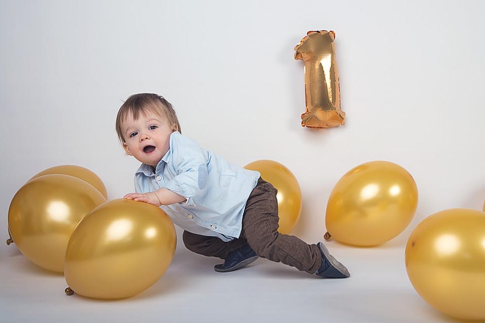 Verjaardags fotoshoot baby