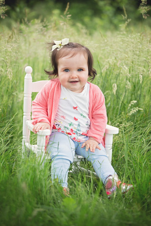 Verjaardags baby fotoshoot