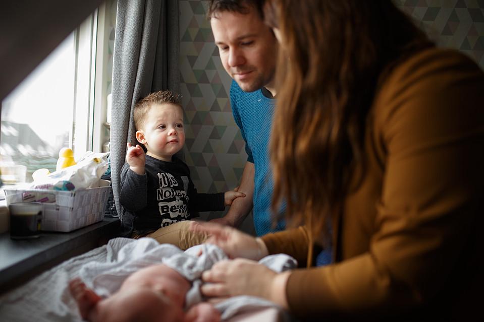 Lifestyle newborn reportage Drenthe, Groningen