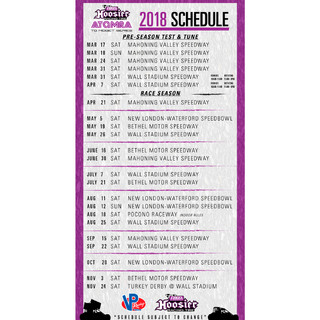 2018 ATQMRA Schedlue
