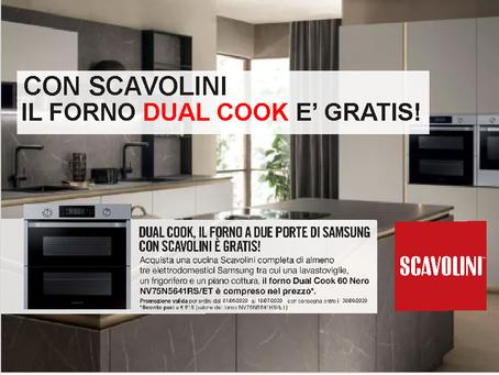 Con Scavolini il Forno Samsung Dual Cook é GRATIS
