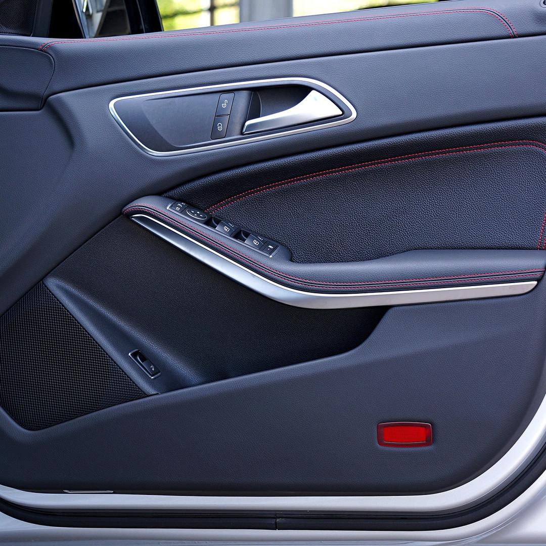 Interior of a luxury car door
