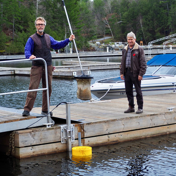 Drew Lichtenheldt and MMP Norm Miller at Point Pleasant Marina