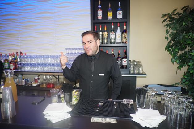 Bartender Patrick Gillespie