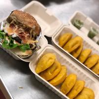 Burger + Empanadas
