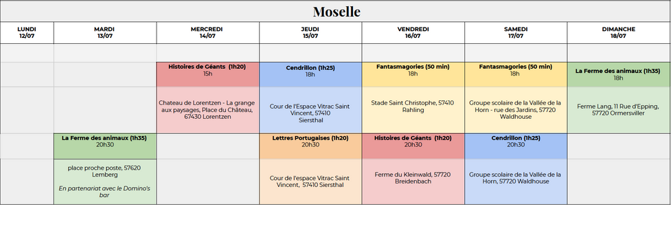 Semaine en Moselle