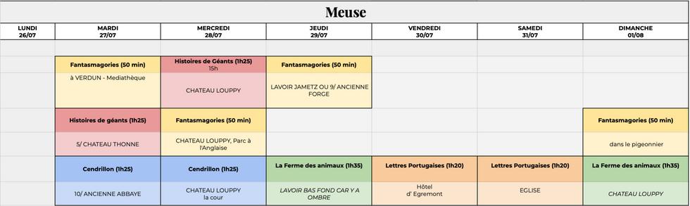 Semaine en Meuse