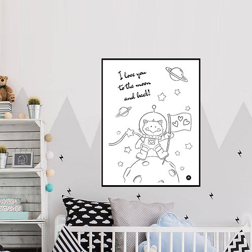 Poster - I love you to the moon Freebie