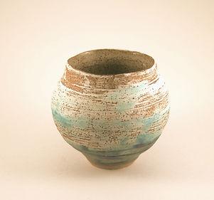 Blue earthenware vase