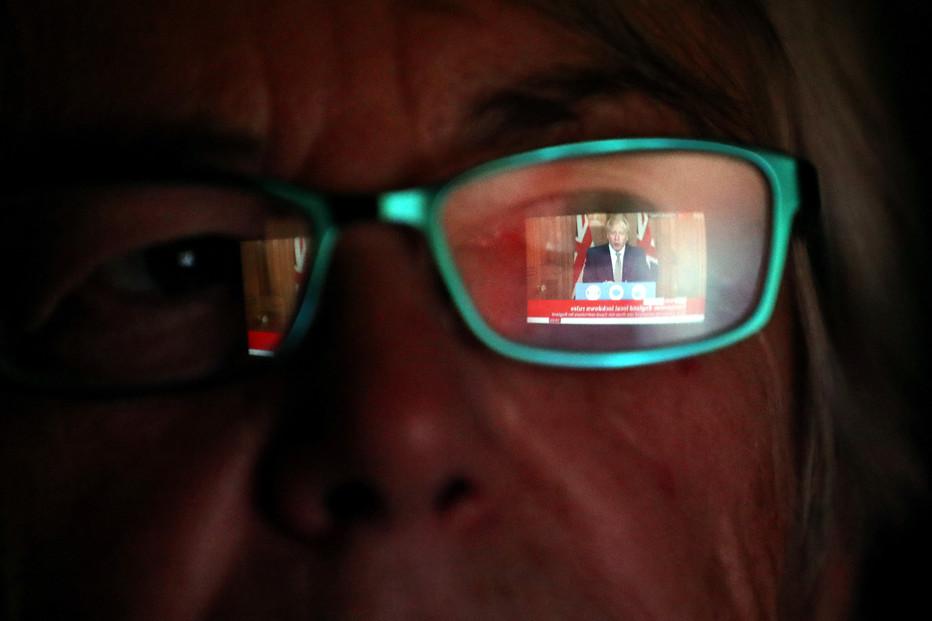 North West resident watches Boris Johnson Briefing