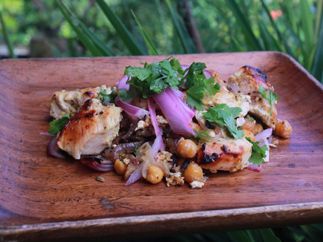 One Pan Curried Chicken (Or Tofu) With Chickpea & Onion