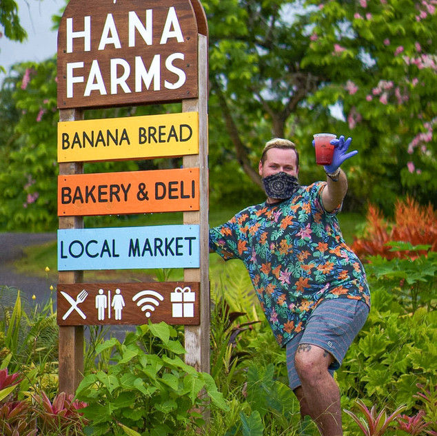 Hana Farms Roadside Sign and Work-trader