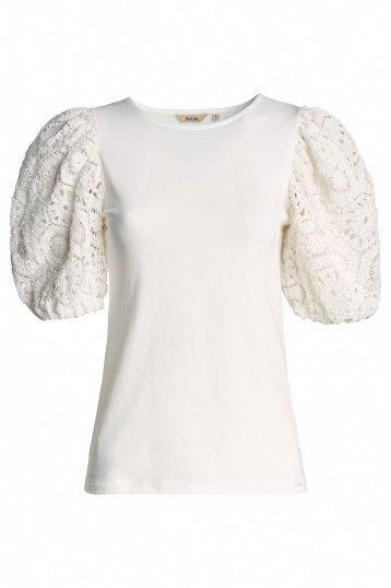 125001 T-shirt à manches en dentelle