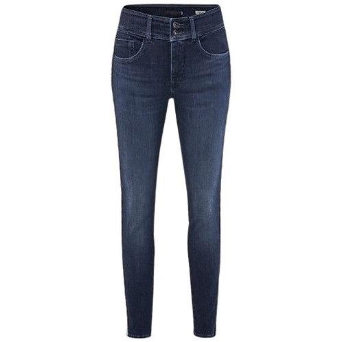 Jeans push in secret bleu
