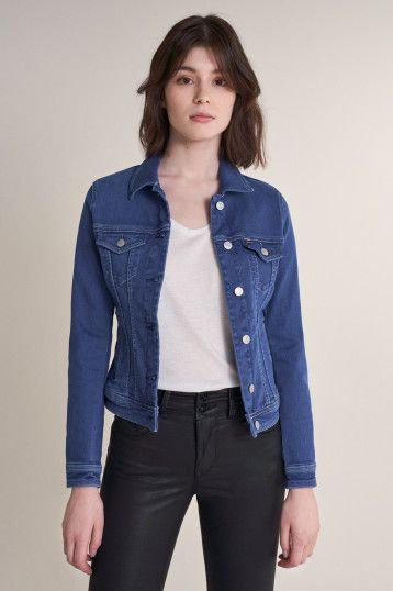 124894 Veste en jean bleu vif