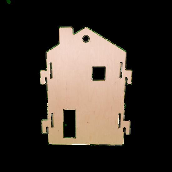 Panneau séparateur mobile en forme de maison