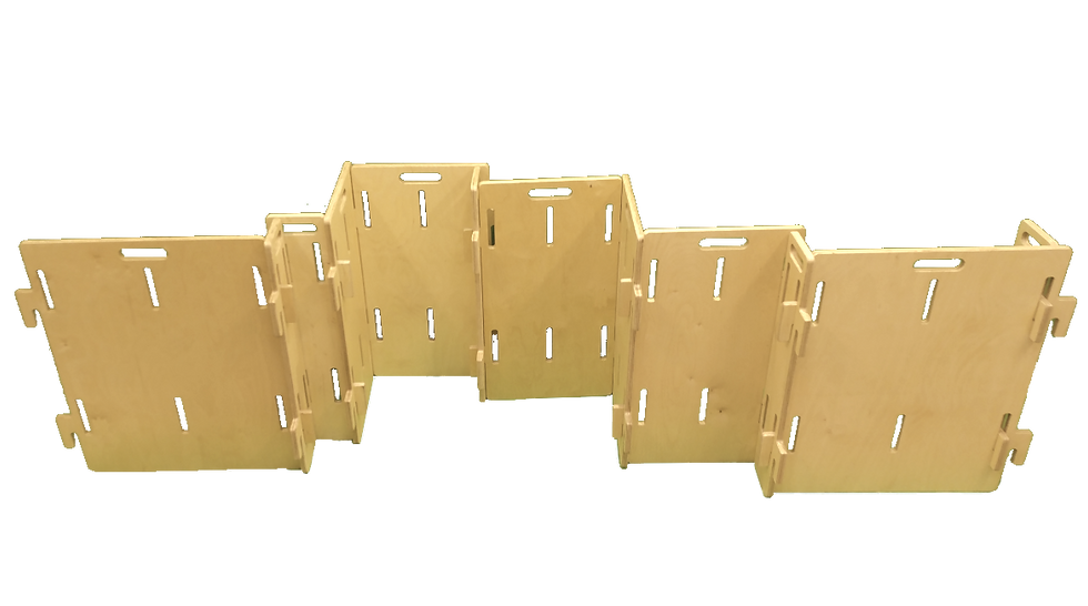 Panneau séparateur mobile robuste en bois