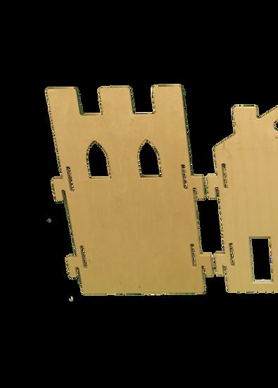 Panneau Séparateur Mobile - Silhouette Château