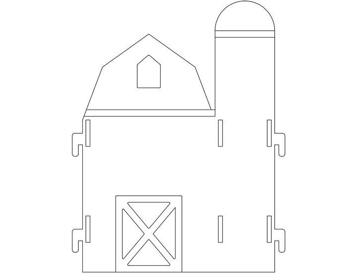 Panneau Séparateur Mobile Large - Silhouette Grange