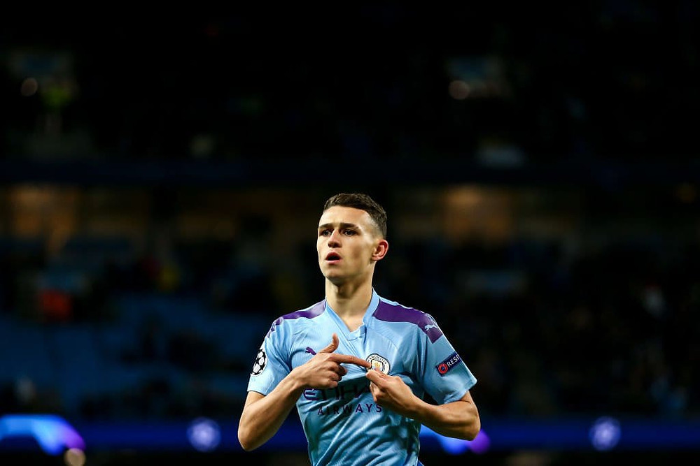 Philip Walter Foden Of Manchester City.