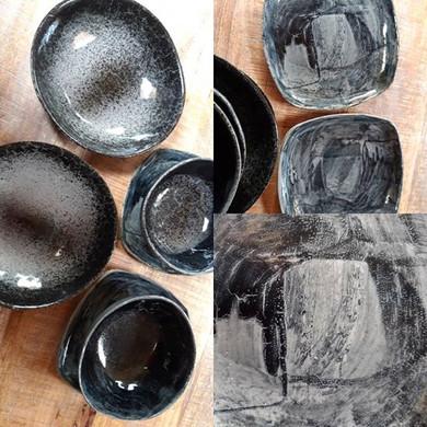 Atelier K céramique :  service gris en g