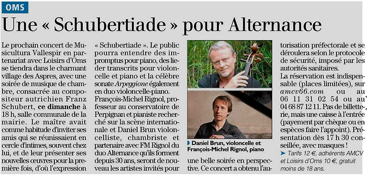 l'independant 04 septembre 2020 - concer