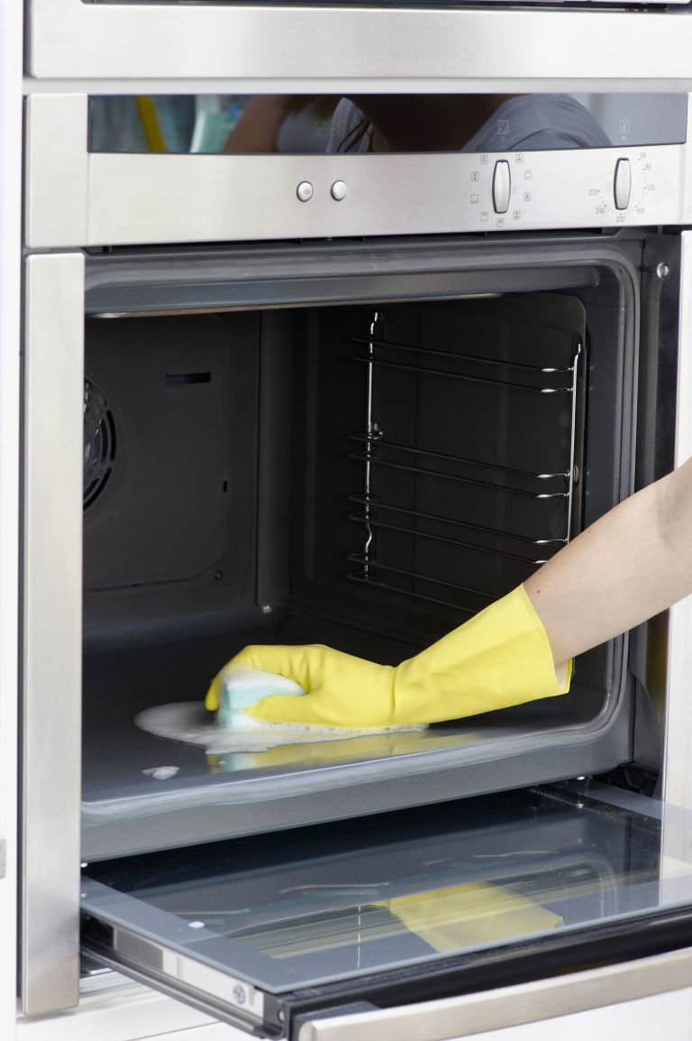 Inside conventional oven clean