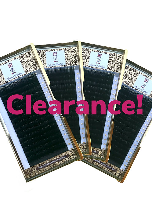 Clearance - various lashes