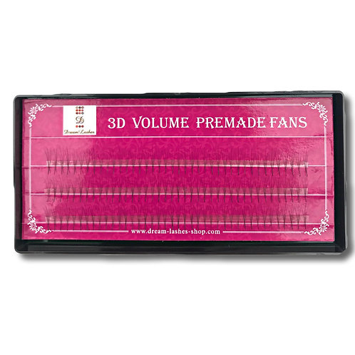 Dream Lashes PRE-MADE 3D FANS - single length