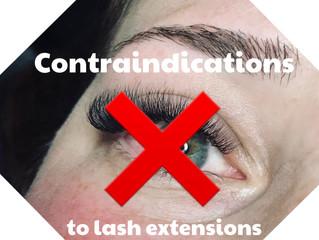 Contraindications to eyelash extensions