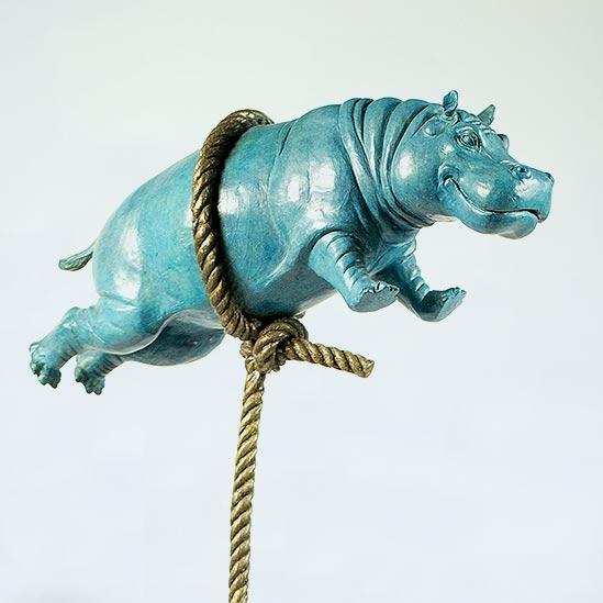 Blue Hippo (detail)