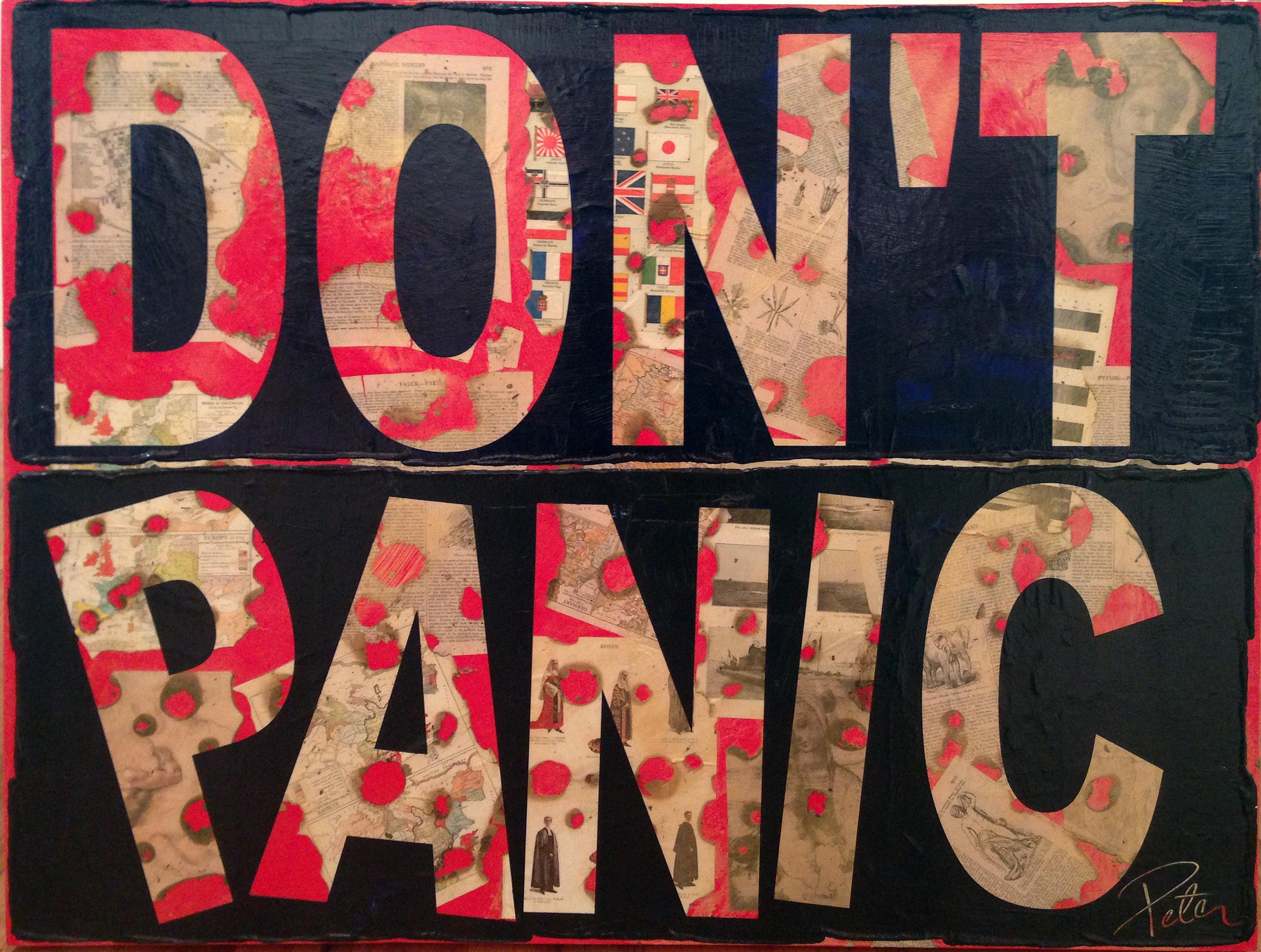 DON'T PANIC 36x48
