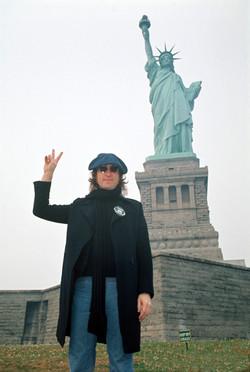 John Lennon Statue of Liberty 1974