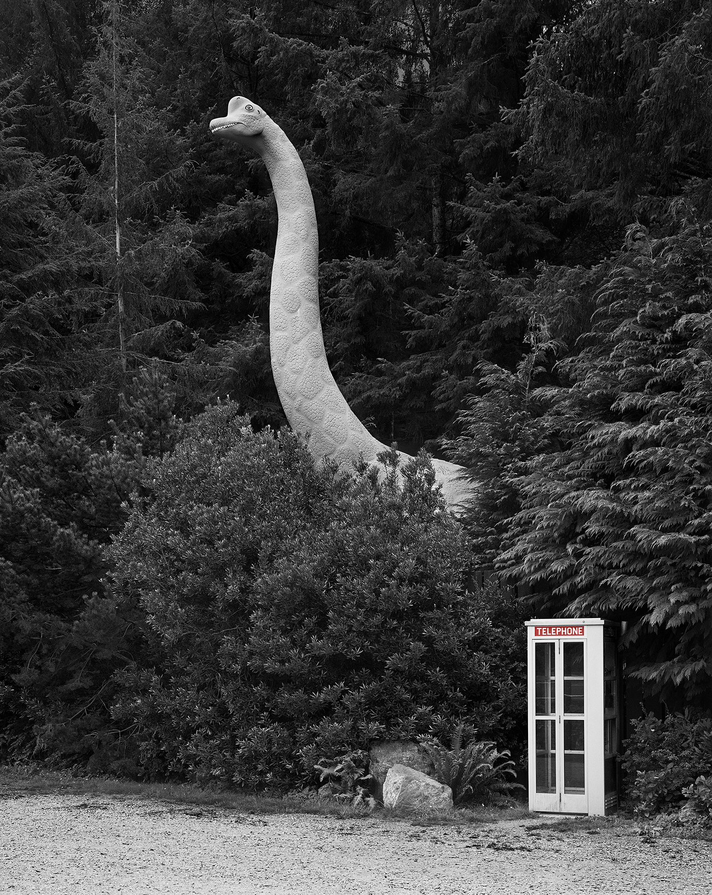 Dinosaur and Telephone Booth, OR