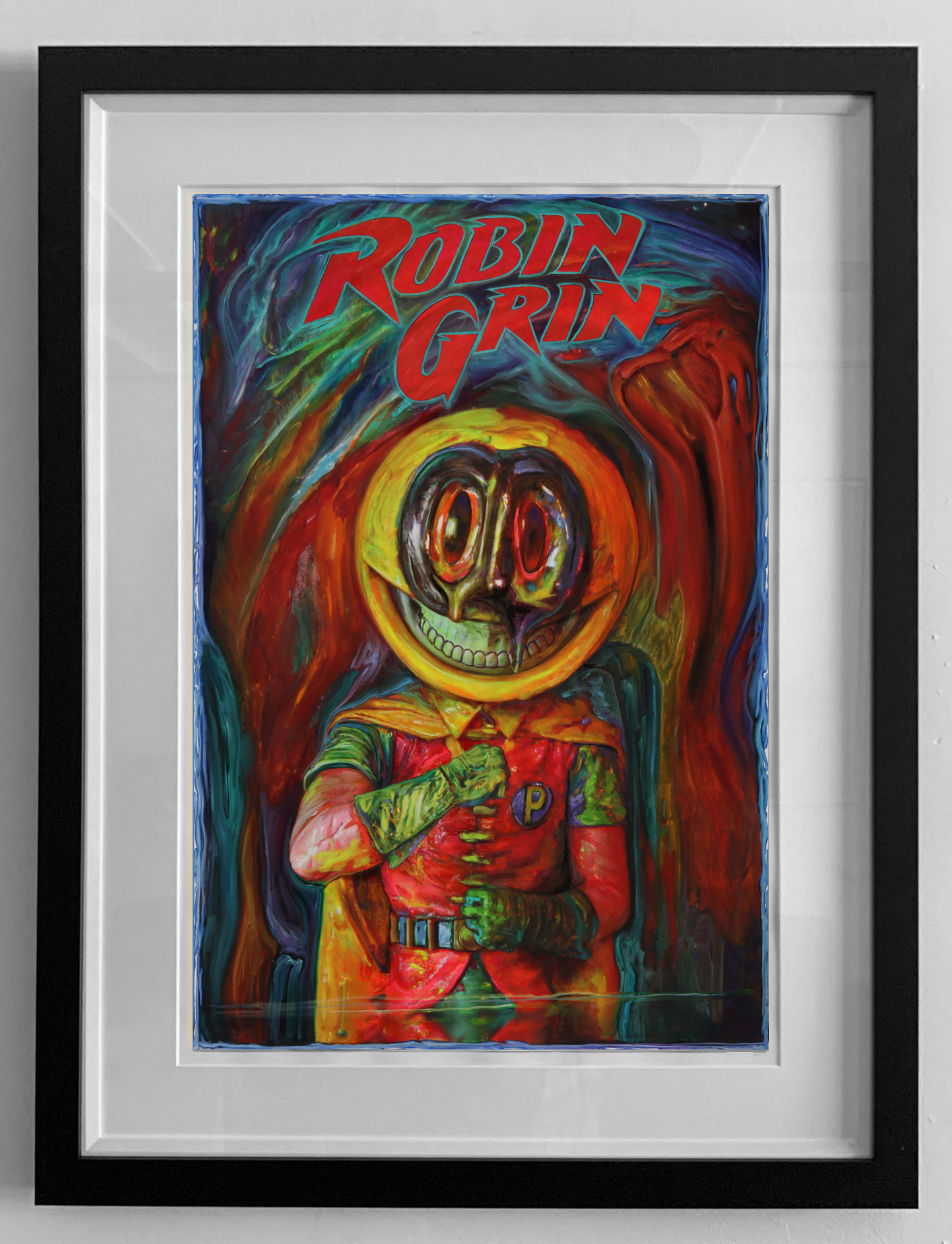pop ROBIN GRIN FRAMED