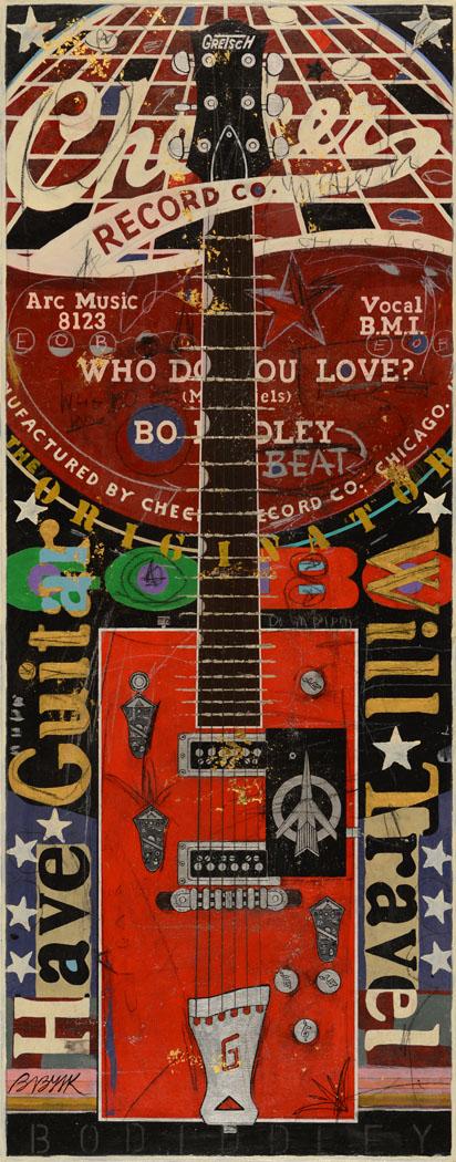 49x20 Bo Diddley Gretsch Guitar