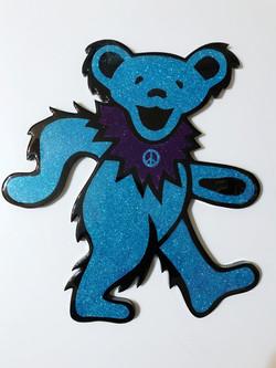 Blue Dancing Peace Bear